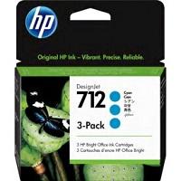 HP712 3ED77A シアン3本パック